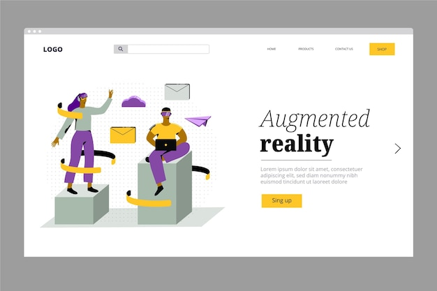 Pagina di destinazione della realtà aumentata