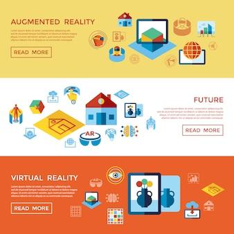 Collezione di icone di realtà aumentata e virtuale