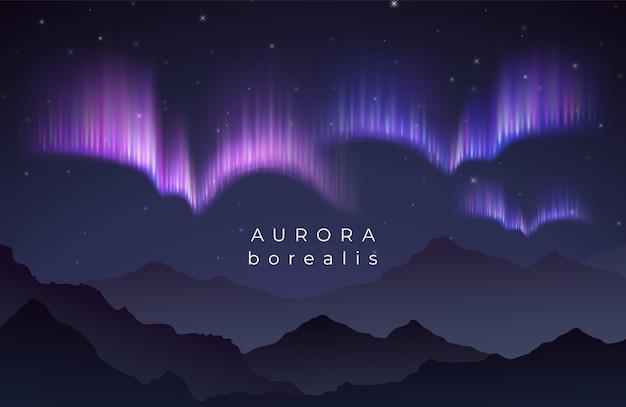 Illustrazione di aurora boreale