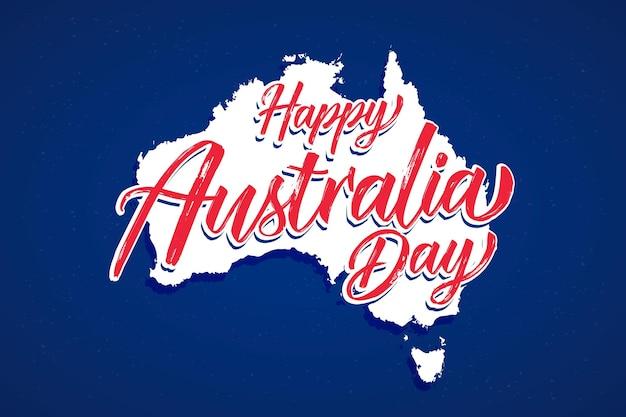 Stile di iscrizione del giorno dell'australia