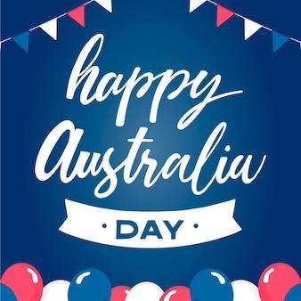 Iscrizione di giorno dell'australia con palloncini