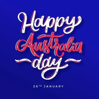 Lettering del giorno dell'australia