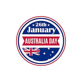 Distintivo rotondo del giorno dell'australia