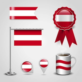 Vettore di progettazione della bandiera dell'austria