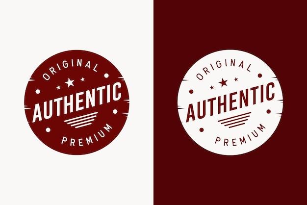 Concetto di design dell'etichetta distintivo autentico
