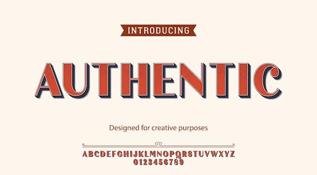 Carattere tipografico autentico. per scopi creativi