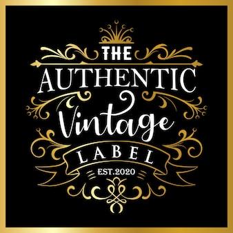 Etichetta vintage autentica