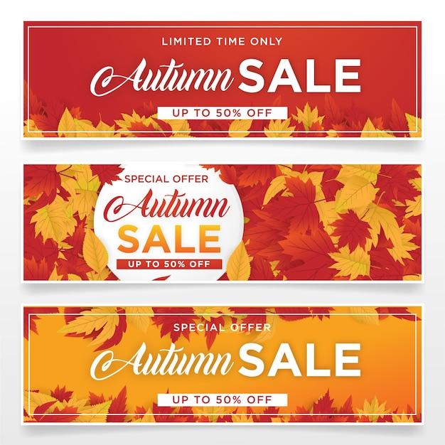 Modello di sfondo autmn vendita con foglie di acero