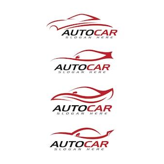 Disegno dell'icona dell'illustrazione di vettore del modello di logo dell'automobile automatica