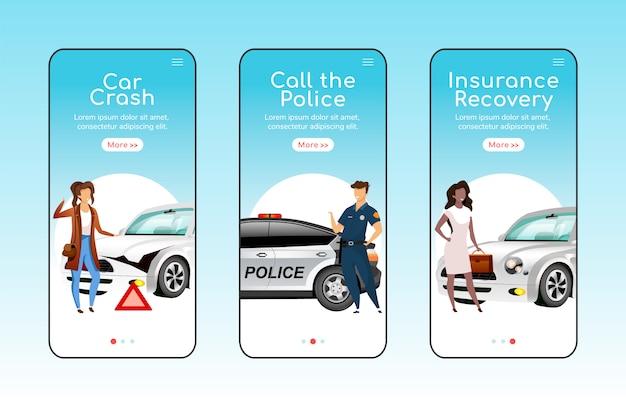 Schermata dell'app di emergenza automatica