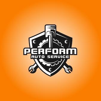 Modello logo auto performance