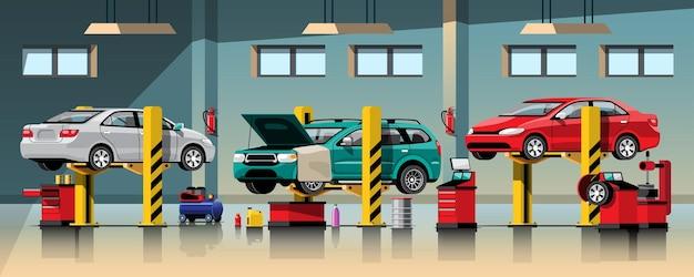 Servizio di riparazione e manutenzione di automobili Vettore Premium