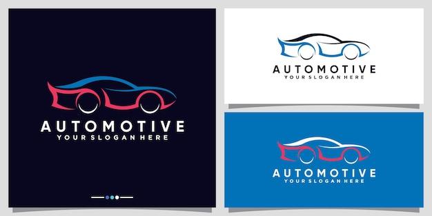 Design del logo dell'auto automobilistica con un moderno concetto futuristico vettore premium