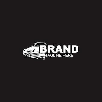 Modello di logo automobilistico auto in bianco e nero