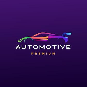 Illustrazione automobilistica dell'icona di logo