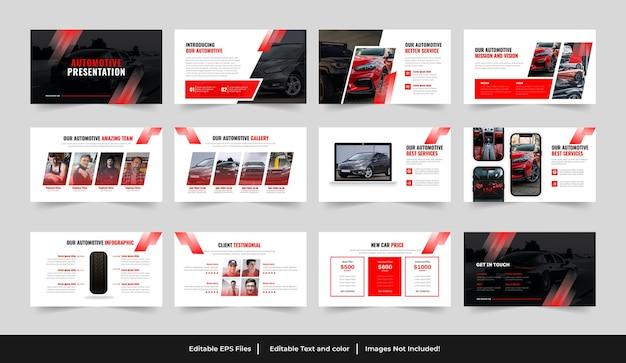 Design del modello powerpoint automobilistico