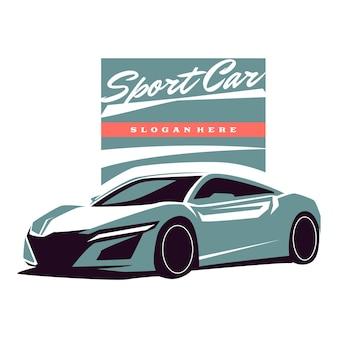 Illustrazione di auto sportive automobilistiche
