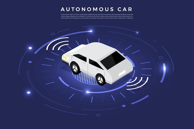 Autonoma guida autonoma sensori automobilistici smart car tecnologia del veicolo senza conducente