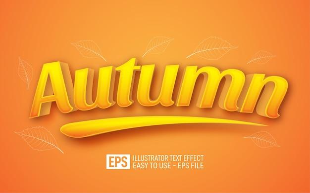 Modello di effetto stile modificabile testo autunno 3d