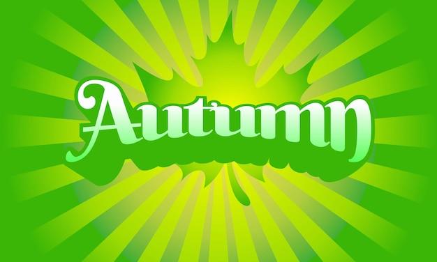 Modello di progettazione del logo dell'etichetta astratta autunnale