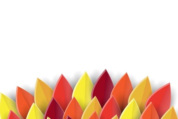 Poster di sfondo autunnale carta tagliata sfondo per il logo o il badge dell'icona del ringraziamento da cartolina