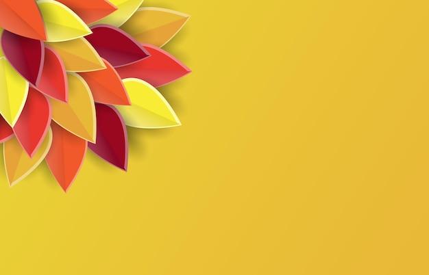 Poster di sfondo autunnale sfondo tagliato carta per il logo o il badge dell'icona del ringraziamento da cartolinaeps10