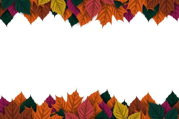 Sfondo autunnale con foglie autunnali