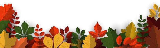 Sfondo di banner autunnale con foglie autunnali