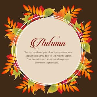 Foglie di foglie di natura carta autunno