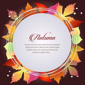 Tema stagionale di autunno carta tema tondo