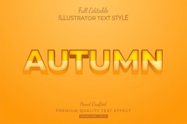Effetto testo 3d modificabile autunno