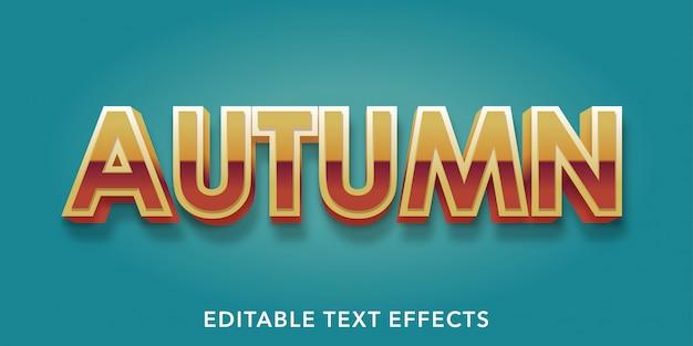 Effetti di testo modificabili in autunno