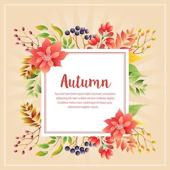 Autunno autunno animale con stella di natale