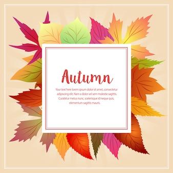 Autunno autunno animale con foglie stagionali
