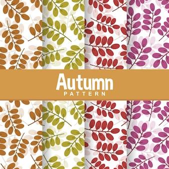 Autunno autunno ramo foglie foglia seamless pattern