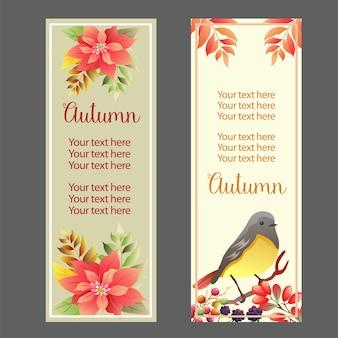 Bandiera di poinsettia songbird autunno autunnale