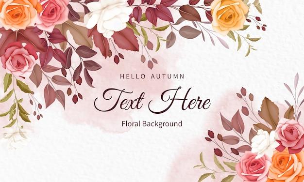 Sfondo floreale autunnale con bellissimi fiori