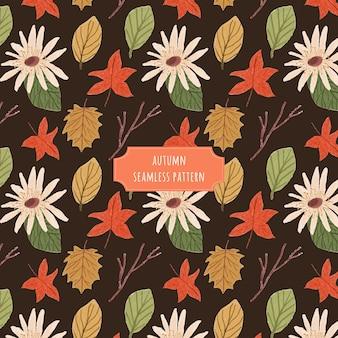 Modello senza cuciture floreale di autunno