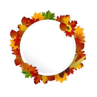 Circolo circolare di concetto di autunno