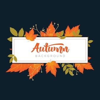Cornice autunnale con modelli di foglie d'autunno