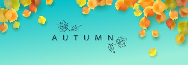 Banner di foglie d'autunno