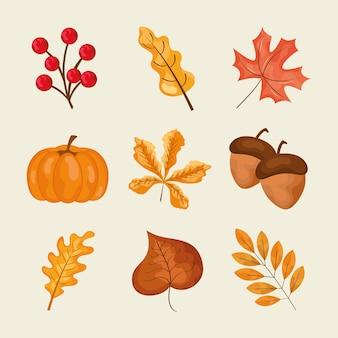 Disegno di foglie d'autunno