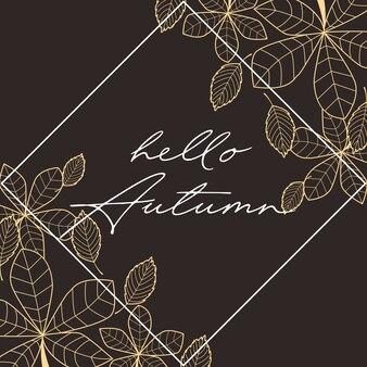 Foglie di autunno che cadono sul nero