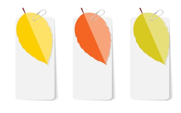Modelli di infografica di foglie d'autunno per illustrazione vettoriale di affari