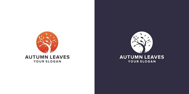 Disegno del logo delle foglie autunnali
