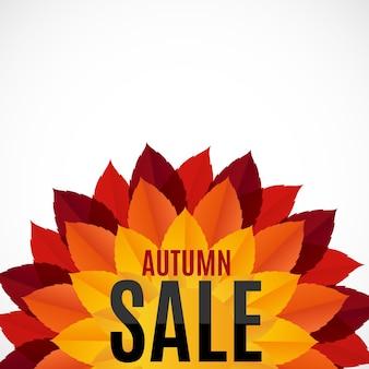 Illustrazione di vettore del fondo di vendita delle foglie di autunno