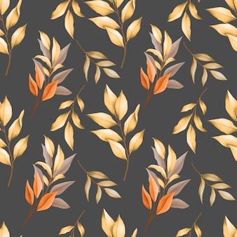 Modello senza cuciture di foglie d'autunno