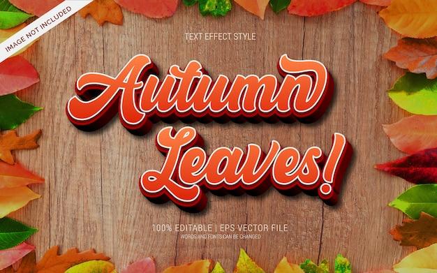 Foglie d'autunno! effetti di testo