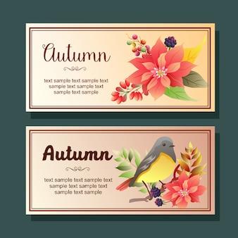 Insegna orizzontale di autunno del mockingbird della stella di natale