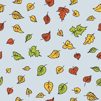Modello autunno foglia senza soluzione di continuità. struttura decorativa senza cuciture del modello con le foglie